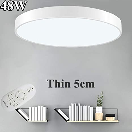 Dimmable LED Ceiling Light Ultra Thin Flush Mount Bedroom Home Fixture Lamp US