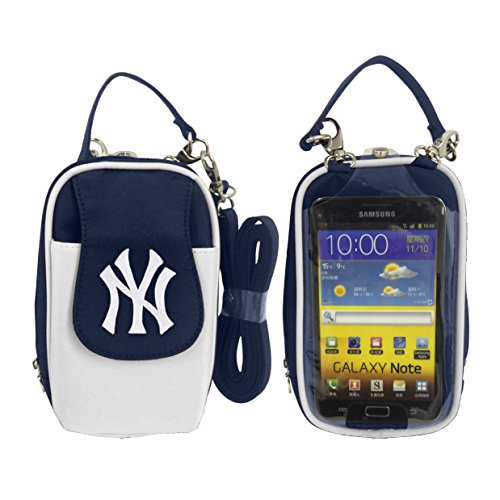 Charm14 MLB New York Yankees Crossbody Cell Phone Purse XL -Fits All Phones