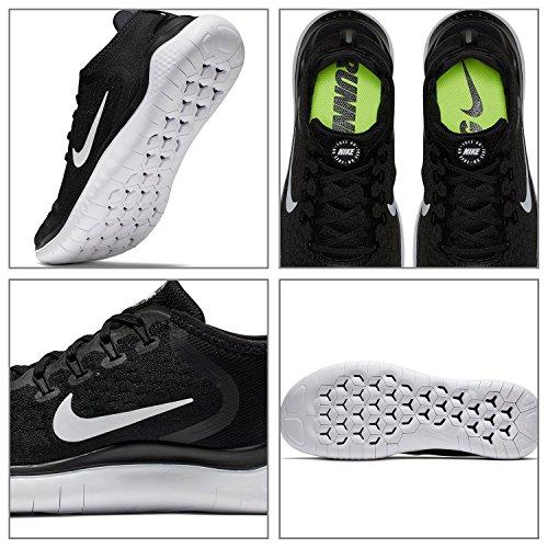 Nike Mens Free Rn 2018 Nylon Scarpe Da Corsa Nero / Bianco