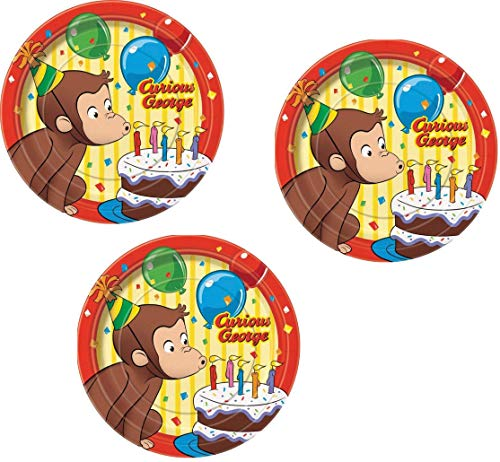 Curious George Birthday Party Pack - 24 Dessert -