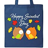 Inktastic - Happy Sweetest Day- cute owl couple Tote Bag Royal Blue