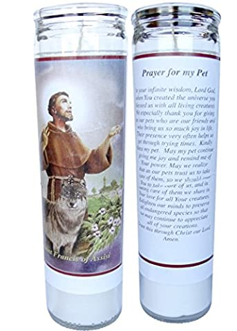 Prayer for My Pet St Francis of Assisi 2 Candle Set with Prayer in the Back (St Francis Of Assisi Candle)