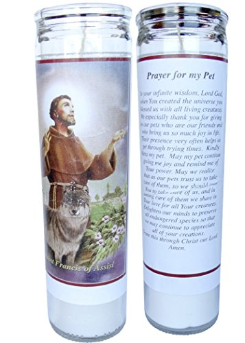 Prayer for My Pet St Francis of Assisi 2 Candle Set with Prayer in the Back