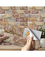 VIVILINEN 27 stks Antislip Waterdichte Keramische Tegel Stickers Peel en Stick, 3D Baksteen Effect Zelfklevende Muurtegels Sticker Decals voor Badkamer Keuken Backsplash DIY Home Decor