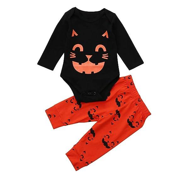 Sudadera con Capucha de Halloween,BBestseller Manga Larga con Estampado de Gatos de Halloween bebé Traje Blusas Otoño e Invierno (2 Piezas): Amazon.es: Ropa ...