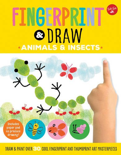 Thumbprint Drawing Book (Fingerprint & Draw: Animals & Insects: Draw & paint over 30 cool fingerprint and thumbprint art masterpieces (Drawing with your)
