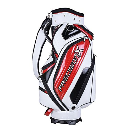 5-Way Golf Stand & Carry Bag Clubs Storage White & Red