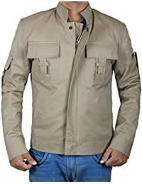 Casual Mens Lightweight Jacket - Military Denim Light Jackets for Men