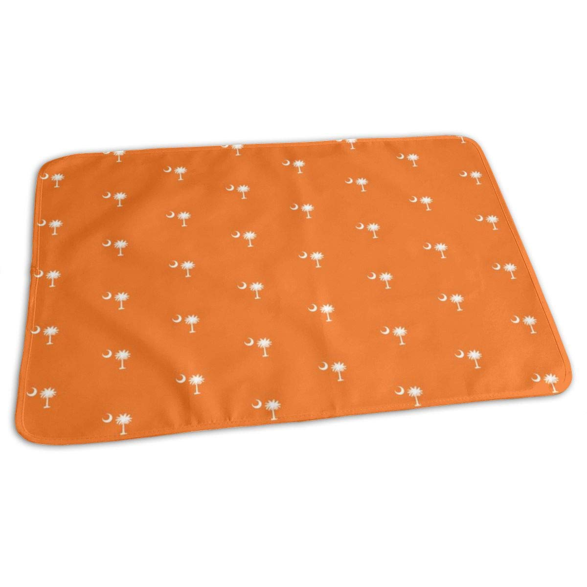 SC Flag Palmetto Moon ORANGE SOUTH CAROLINA Baby Portable Reusable Changing Pad Mat 19.7x27.5 inch