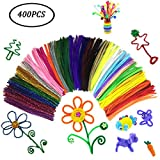 Pipe Cleaners Bulk,Simuer 400PCS Colorful Chenille Stems for DIY Art Craft Decorations Bendable & Twistable 6mm x 300mm