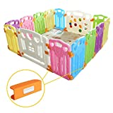Baby Playpen Kids Activity Centre Safety Play Yard Home Indoor Outdoor New Pen (multicolour, Classic set 14 panel)