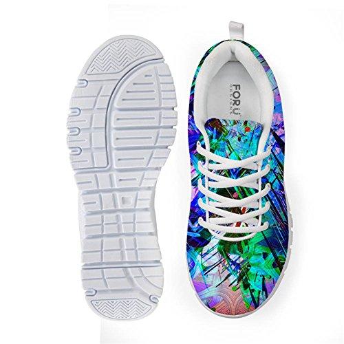 Bigcardesigns Womens Mode Färg Löparskor Sneakers Snörning Klädstil