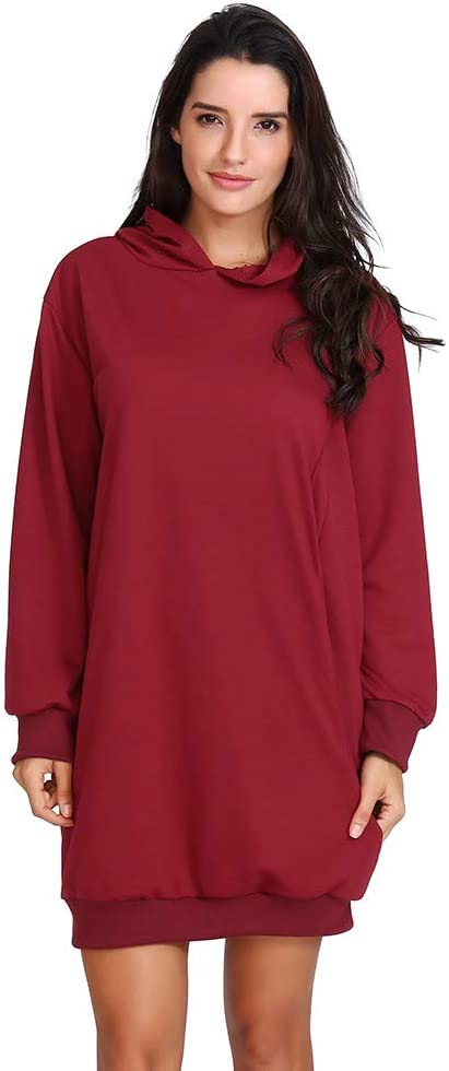 Blouses for Women,Womens Tops Solid Color Casual Fit Straight Autumn WinterDresses Hooded
