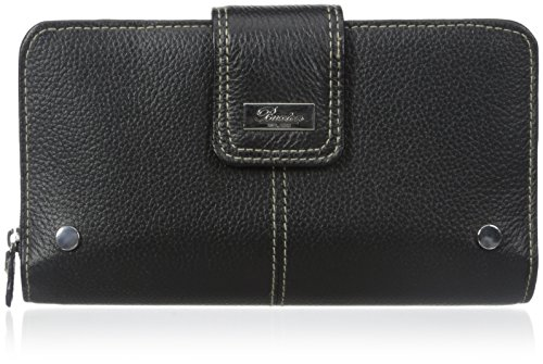 Buxton Women's Westcott Organizer Clutch, Black, One - Wallets Ladies Buxton