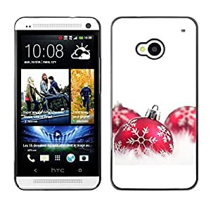 YOYO Slim PC / Aluminium Case Cover Armor Shell Portection //Christmas Holiday Red Decorations 1103 //HTC One M7