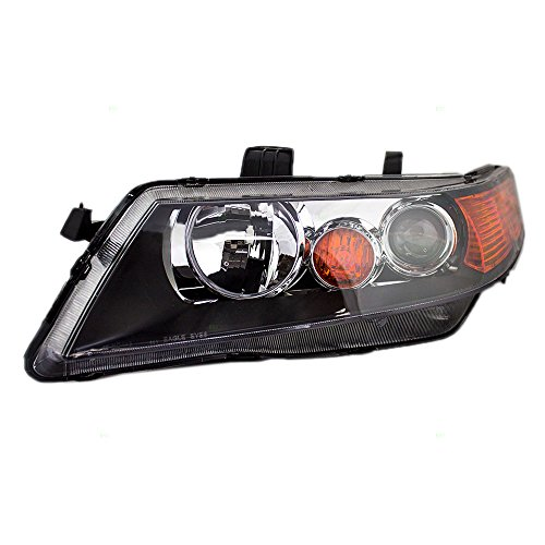 (Drivers HID Headlight Headlamp Lens w/Black Housing Replacement for Acura TSX 33151SECA12)