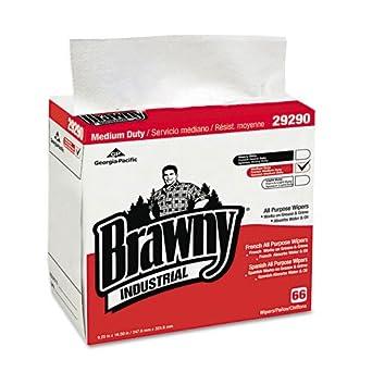 Brawny Industrial & reg servilletas 1/4 Fold limpiaparabrisas, color blanco, 9.25 x