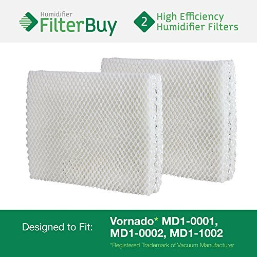 Vornado MD1-0001, MD1-0002, MD1-1002 Humidifier Wick Filter. Designed by FilterBuy to fit all Vornado Evaporative Humidifiers. Pack of 2 Filters. (Vornado Humidifier Filters compare prices)
