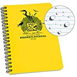 "Rite in the Rain All Weather Spiral Notebook, 4 5/8"" x 7"", Yellow Cover, Birders Journal (No. 195)"