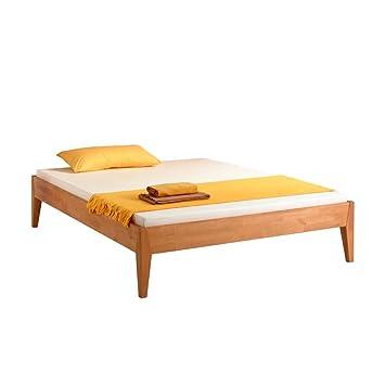 Pharao24 Bett Für Dachschräge Buchenholz Massiv Breite 146 Cm