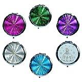 Ladies Premium Cosmetic Compact Mirror Princess Design (12 Pack (2 of Each))