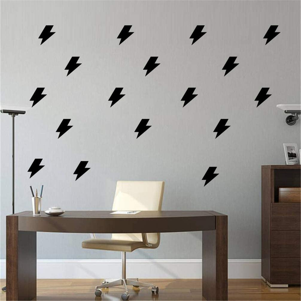 Amazon Com Maiqiken Black Thunder Lightning Stickers Decals For Wall Sweet Life Lovely Home Diy Room Decoration Home Kids Room Bedroom Home Kitchen