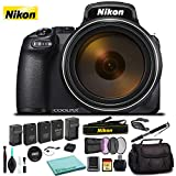 Nikon COOLPIX P1000 Digital Camera 26522 Black - Kit with 2X Replacement Batteries + Extra Charger + 32GB Memory Card + Monopod+ More