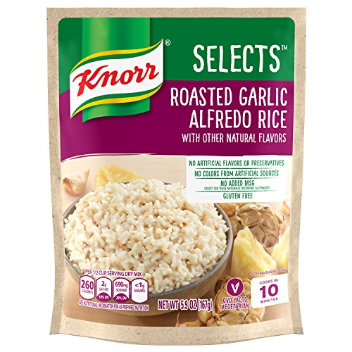 Knorr Selects Rice Side Dish, Roasted Garlic Alfredo, 5.9 oz (Pack of 8)