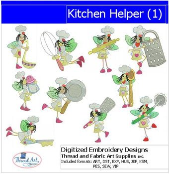 Amazon Com Machine Embroidery Designs Kitchen Helper 1