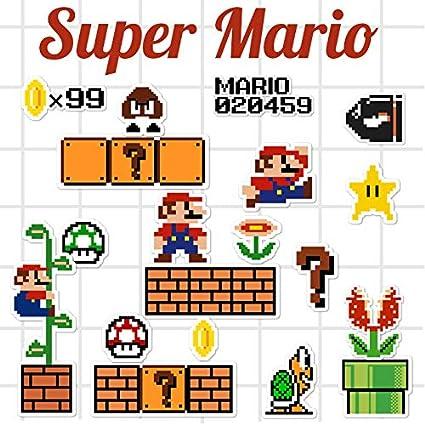 Amazonfr Zhang Super Mario Bagages Autocollant Pixel
