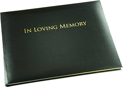 (in Loving Memory Book - Black - Funeral Guest Book - Memorial Book - Presentation Boxed - (Large Size - Width 10.5 inch - Height 7.6 inch - Depth 0.6 inch))