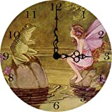 Fairy and Frog Wall Clock For Sale