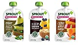 Sprout Organic Baby Food Pouches Stage 2 Sprout Organic Baby Food Variety Pack (Pack of 12), Carrot Apple Mango, Blueberry Banana Oatmeal, Pear Kiwi Peas Spinach