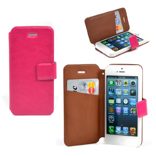 Dasein Classic Faux Leather Cell Phone Case for iPhone 5 - Red