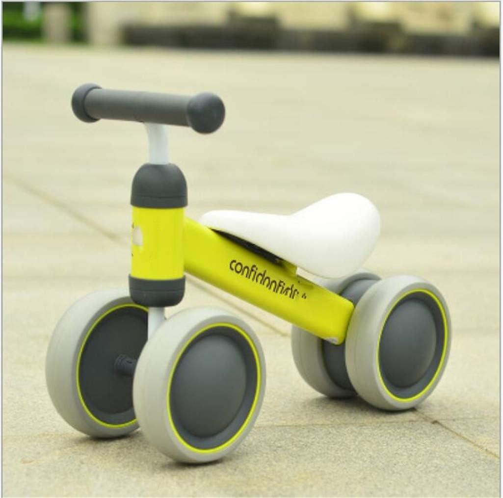 MYMAO 01Bebé Equilibrio Bicicleta, Mini Bicicleta niño Walker Juguete niño Bicicleta sin Pedal Interior al Aire Libre conducción Aprendizaje Juguete 1-3 año Viejo niño y niña,1003yellow