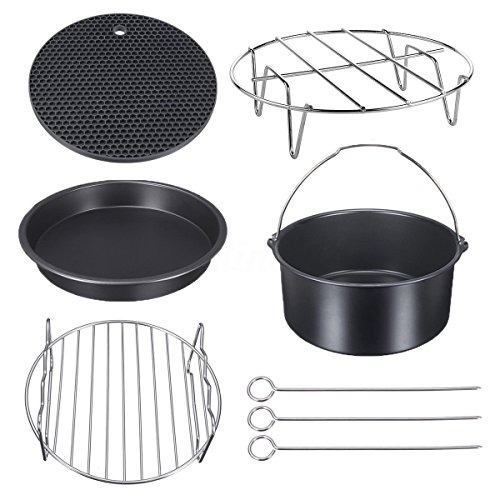 Air Fryer Accessories for Gowise Phillips and Cozyna or More Brand, Match all 3.7QT-5.3QT-5.8QT, Deep Fryers Universal Set of 5