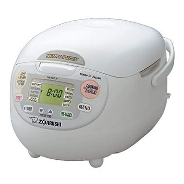 Zojirushi NS-ZCC18 10-Cup Neuro Fuzzy Rice Cooker, 1.8-Liters, Premium White