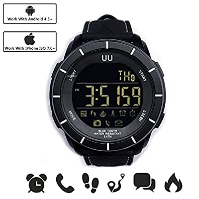 Digital Electronic Waterproof Sport Watch  50M Water Resistant Smart Watch Call message Sync Pedometer Smart Watch for IOS and Android Device