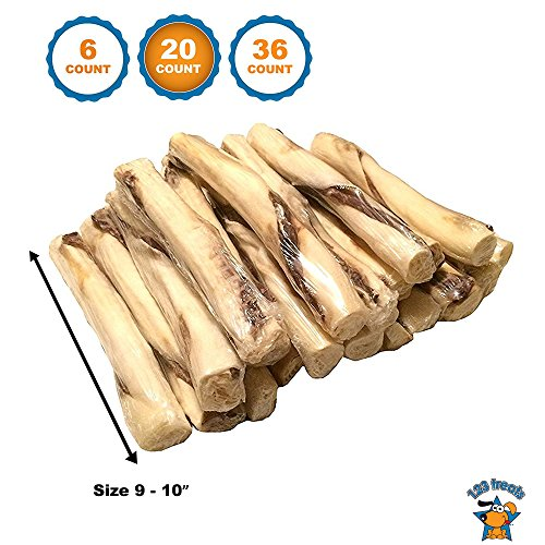 123 Treats Beef Jerky and Rawhide Twister Retriever Rolls 9-10 Dog Sticks Packed in the USA