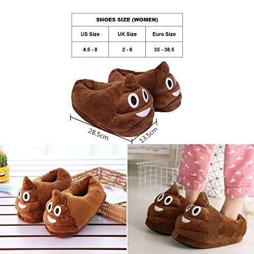 Winter Haus Hausschuhe Cute Emoji Indoor Schuhe für Frauen und Mädchen (Poo)