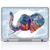 Meffort Inc 17 17.3 Inch Laptop Notebook Skin Sticker Cover Art Decal (Included 2 Wrist pad) - Elephant Painting