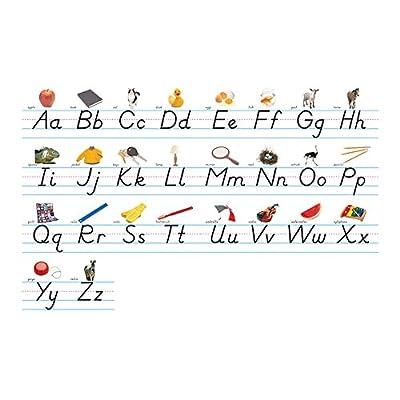 NORTH STAR TEACHER RESOURCE Modern Manuscript Alphabet Lines Bulletin Board Set: Toys & Games