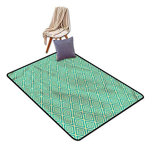 Classroom Rug,Geometric Geometric Contemporary,Children Crawling Bedroom Rug,4'7