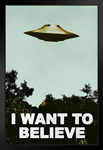 I Want to Believe UFO TV Show Framed Poster 14x20 inch