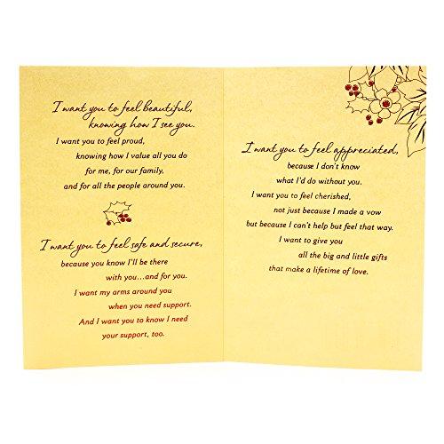 Hallmark Mahogany Christmas Greeting Card for Wife (I Want to Give You) Photo #3