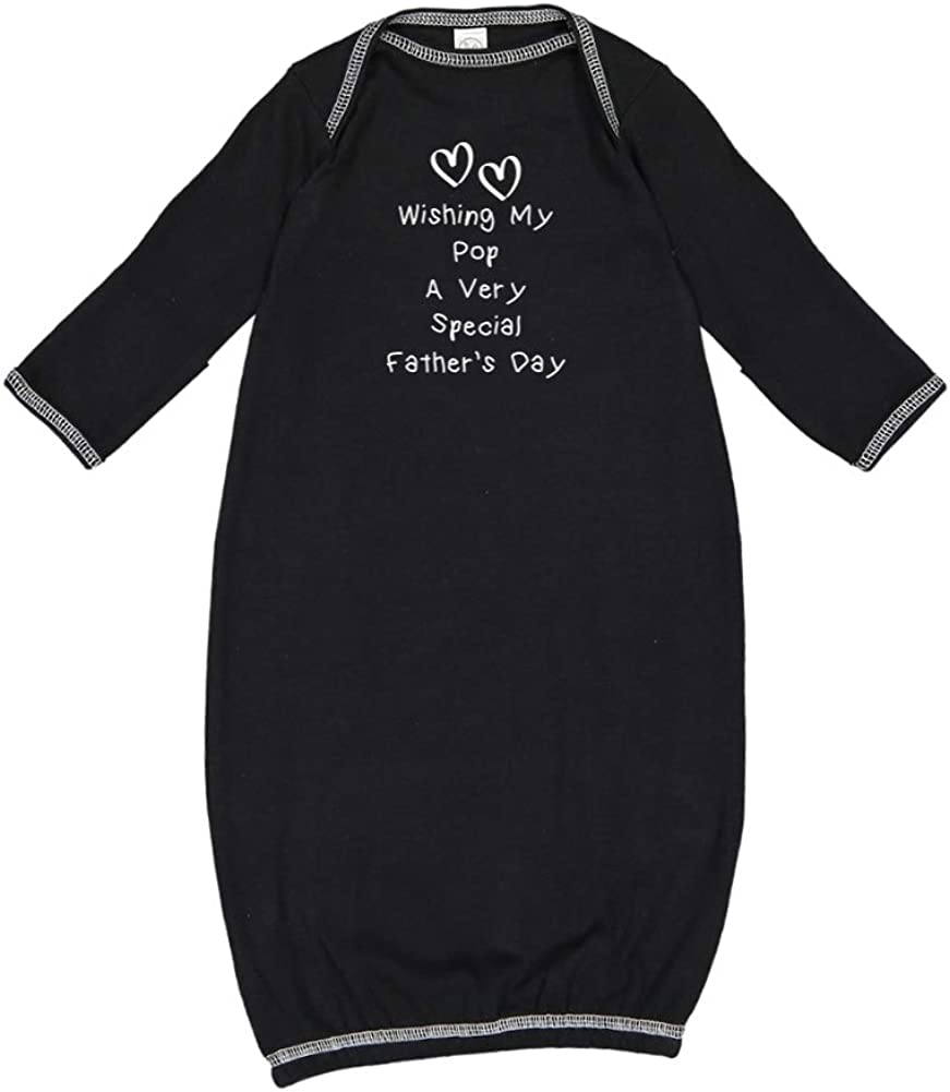 Mashed Clothing Wishing My Pop A Very Special Fathers Day Baby Cotton Sleeper Gown