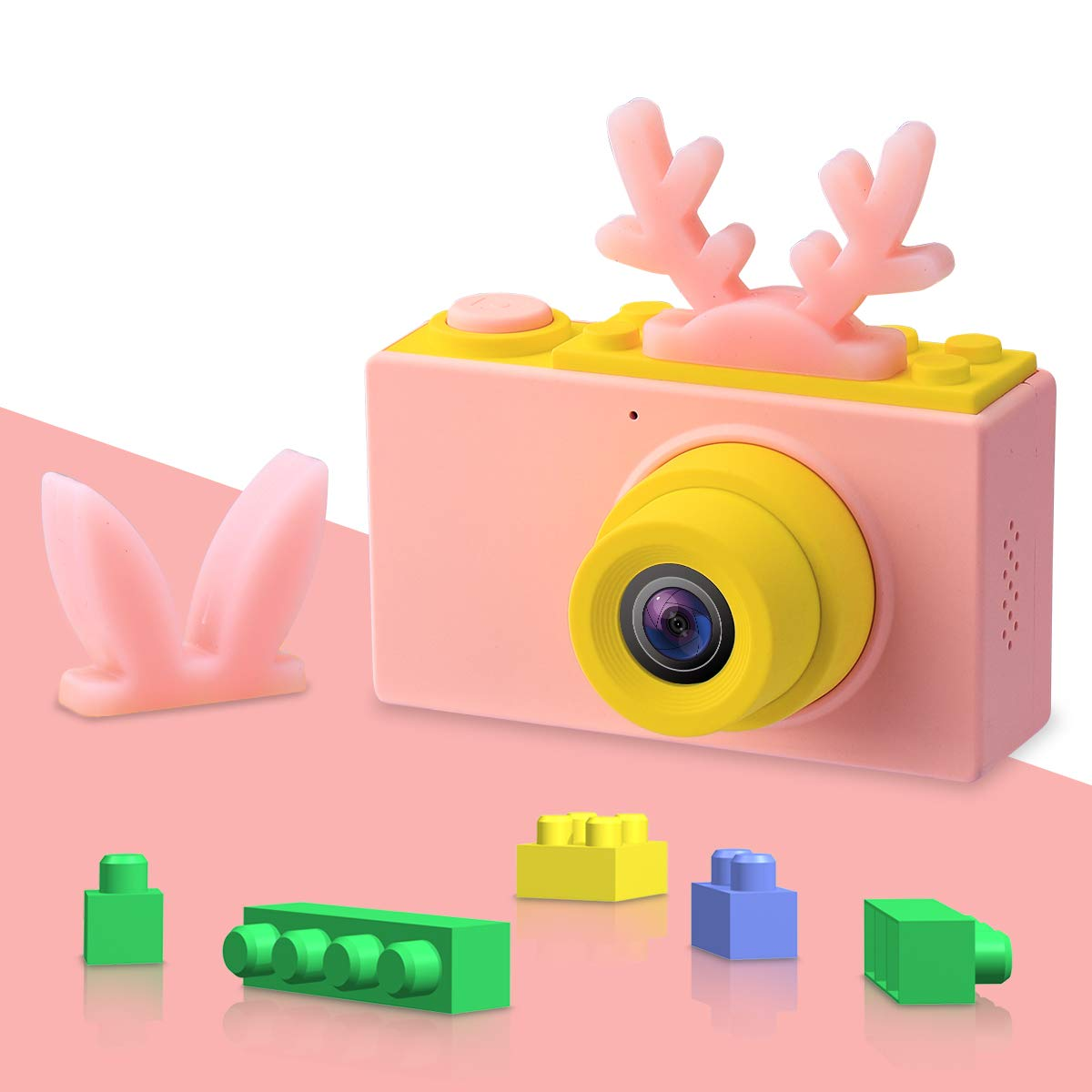 Kids Digital Cameras for Boys HD 1080P Video Camera for Kids Children Selfie Camera Kids Toy Cameras Mini Child Camcorder for Age 3-10 Boys/Girls Pink by Joytrip (Image #5)