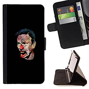 Super Marley Shop - Leather Foilo Wallet Cover Case with Magnetic Closure FOR Sony Xperia Z2 L50t L50W L50U- Clown Kidding Man Joker