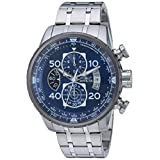 Invicta Men's 'Aviator' Quartz Stainless Steel Casual Watch, Color:Silver-Toned (Model: 22970)