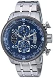 Invicta Men's Aviator Quartz Watch with Stainless-Steel Strap, Silver, 12 (Model: 22970)